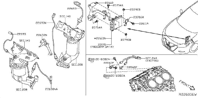 Nissan Maxima Sensor Air Fuel Ratio. ENGINE, CONTROL