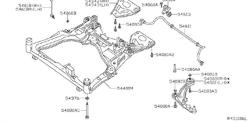 Nissan Maxima Suspension Strut (Left, Front). Steering