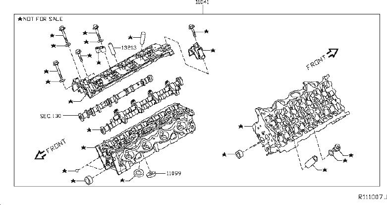 Nissan Titan Engine Valve Cover. COMPONENT, ASSEMBLY