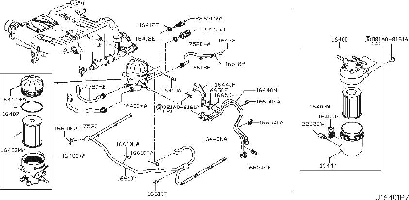 Nissan Titan Turbocharger Oil Line Bolt. FUEL, PIPING