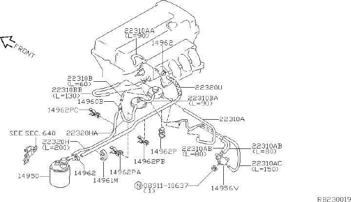 Nissan Pathfinder Service File Hose Vacuum Control B