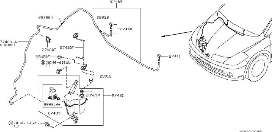 Nissan Versa Washer Fluid Reservoir Cap. WINDSHIELD