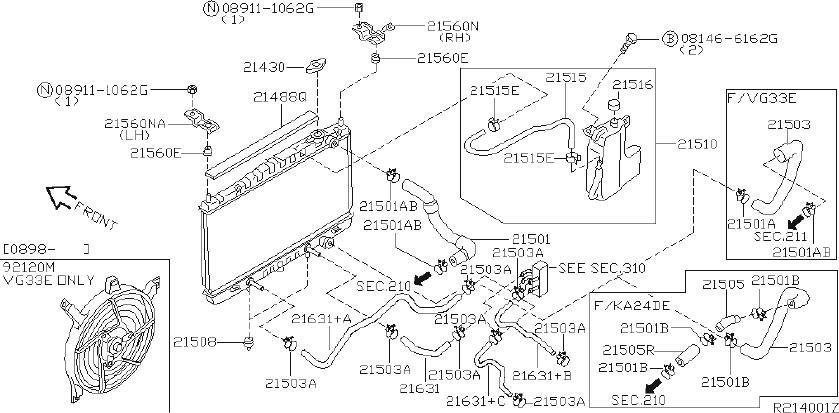 Nissan Frontier Automatic Transmission Oil Cooler Hose