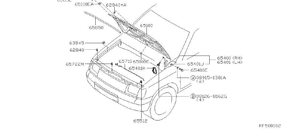 Nissan Frontier Bumper Hood. Seal Dust. Seal Stopper