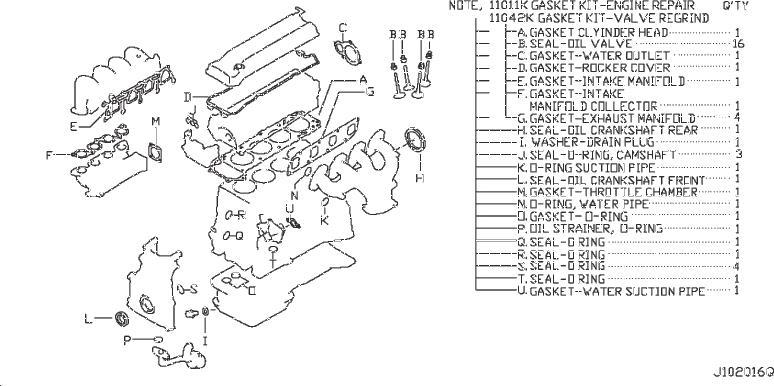 Nissan Frontier Engine Cylinder Head Gasket Set. KIT