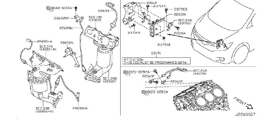 Nissan Quest Engine Control Module. YEAR, MODEL, FWD