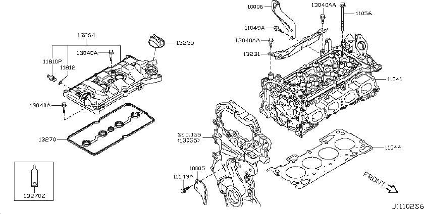 Nissan Juke Engine Cylinder Head Gasket. COMPONENT