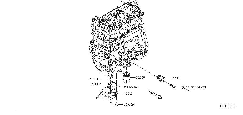 Nissan Juke Engine Oil Pump Seal. SYSTEM, LUBRICATING