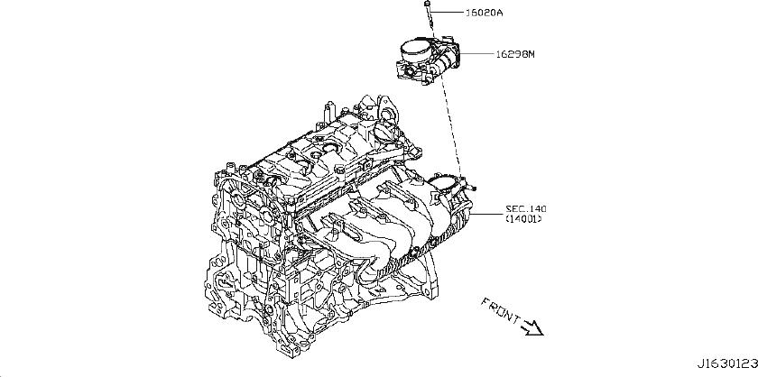Nissan Juke Fuel Injection Throttle Body. Engine, CHAMBER