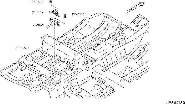 Nissan Juke Engine Coolant Temperature Sensor. LUBRICATION