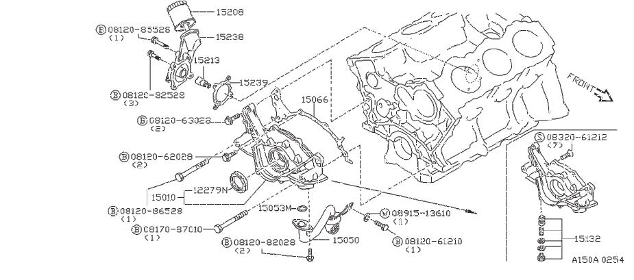 Nissan Maxima Engine Oil Pump Pickup Tube Gasket. RING