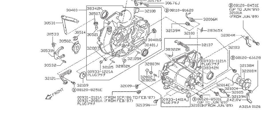 Nissan Pulsar NX Manual Transmission Input Shaft Seal