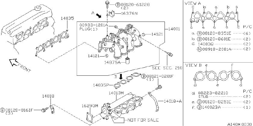 Nissan Altima Bracket Accelerator Cable. INTAKE, EXHAUST