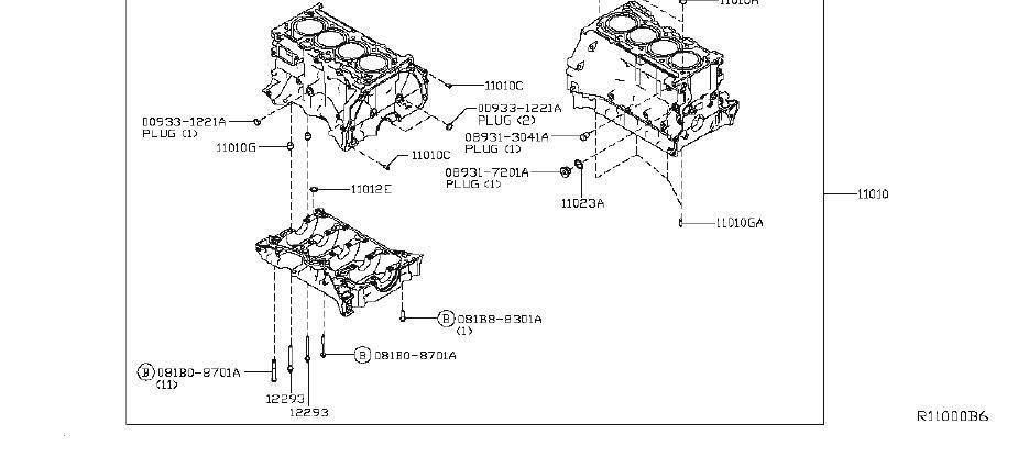 Nissan Altima Bolt Balancer. ASSEMBLY, COMPONENT, BLOCK
