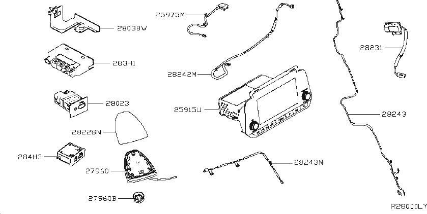 Nissan Altima Radio Amplifier Bracket. AUDIO, ANTENNA