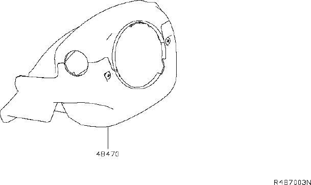 Nissan Altima Steering Column Cover. Suspension, SHELL