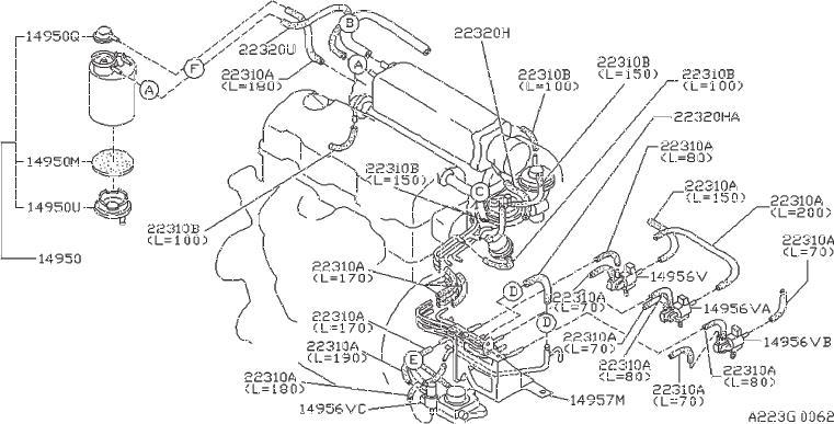 Datsun PICKUP Valve Solenoid. HITACHI, SELECT, PIPING