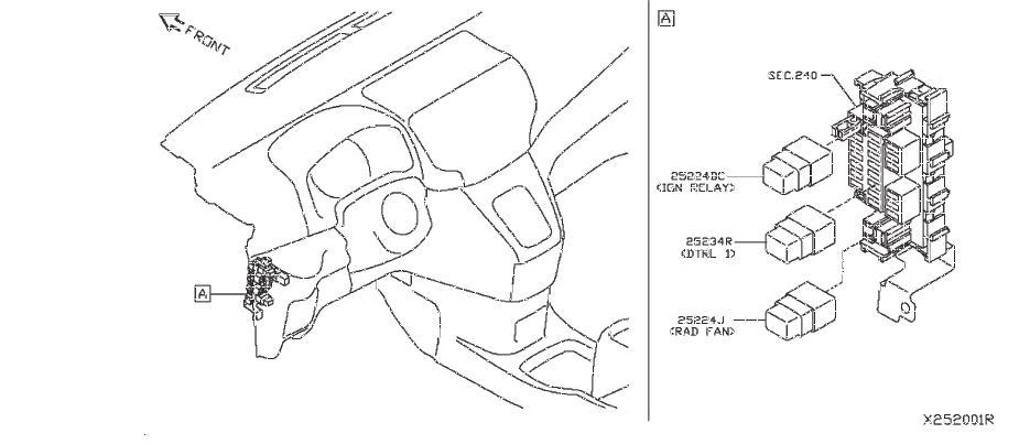 Nissan NV200 Active Body Control (ABC) Relay. Relay