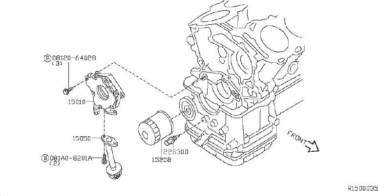 Nissan Xterra Engine Oil Pump. SYSTEM, LUBRICATION