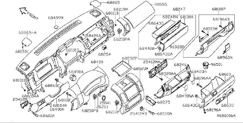 Nissan Xterra Srs product. Lid fuse block. System, stock
