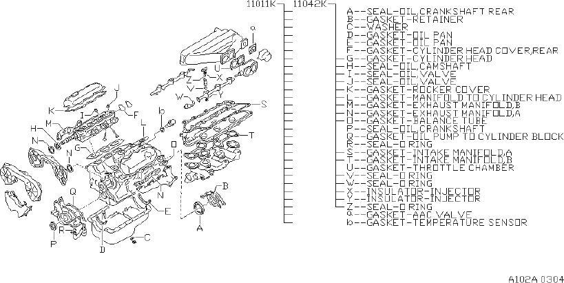 Nissan Pathfinder Gasket Kit Engine, Repair. ORD FRM SRS
