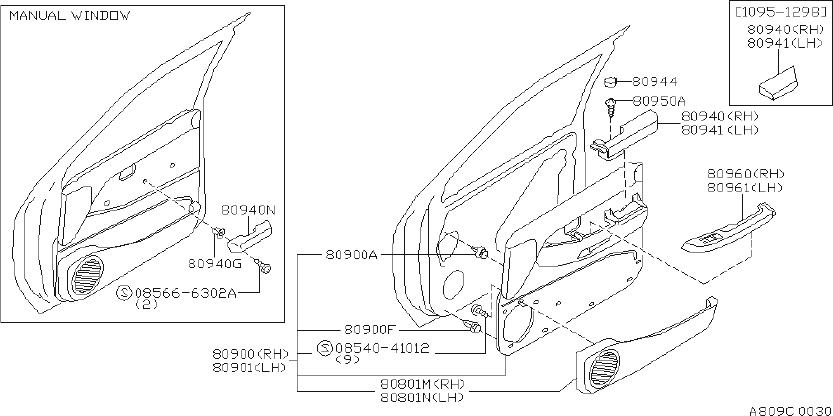 Nissan Pathfinder Finisher Door. (Right, Front). Other