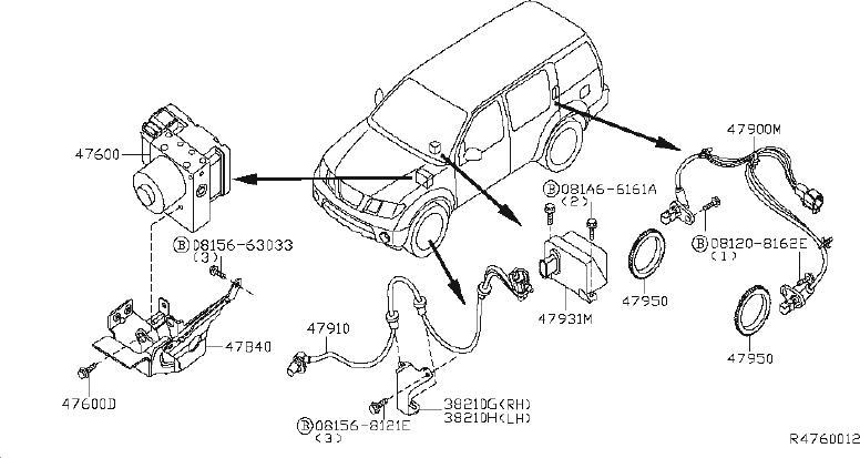 Nissan Pathfinder Abs Wheel Speed Sensor Tone Ring (Front