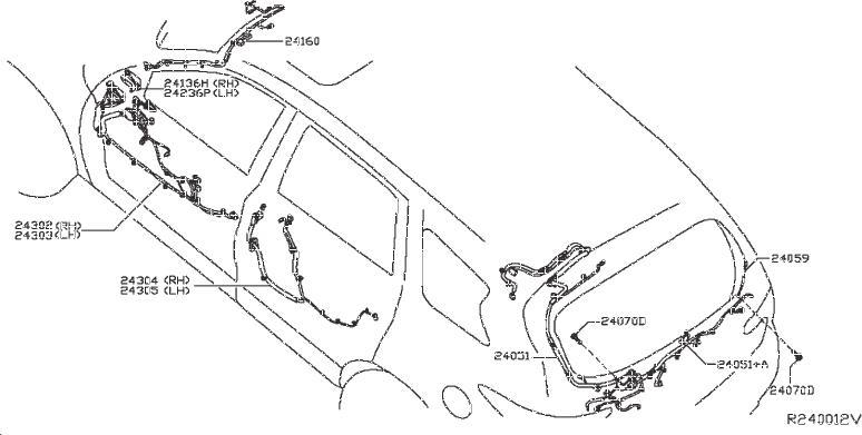 Nissan Pathfinder Harness SUB, Body. ENGINE, ROOM, CONTROL