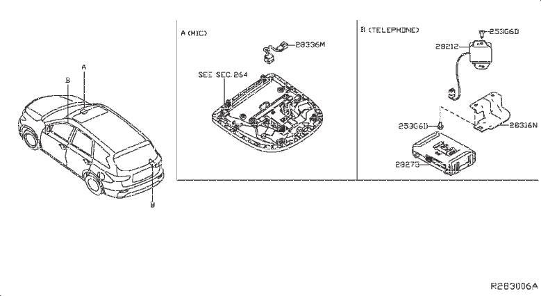 Nissan Pathfinder Mobile Phone Control Module. TELEPHONE