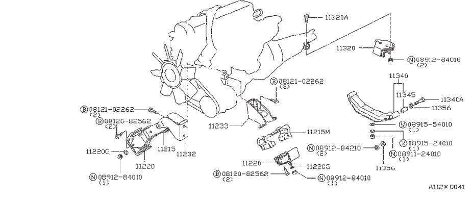 Nissan 280ZX Bush engine mou. Spring engine mounting