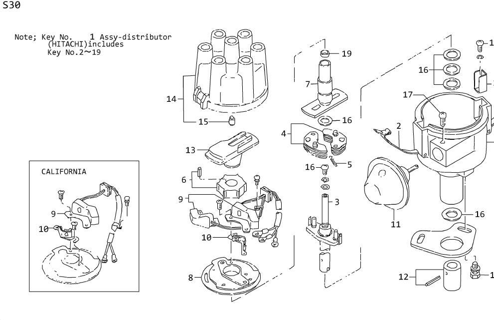 Nissan Maxima Distributor (HI TACHI D4F4 04) TRA