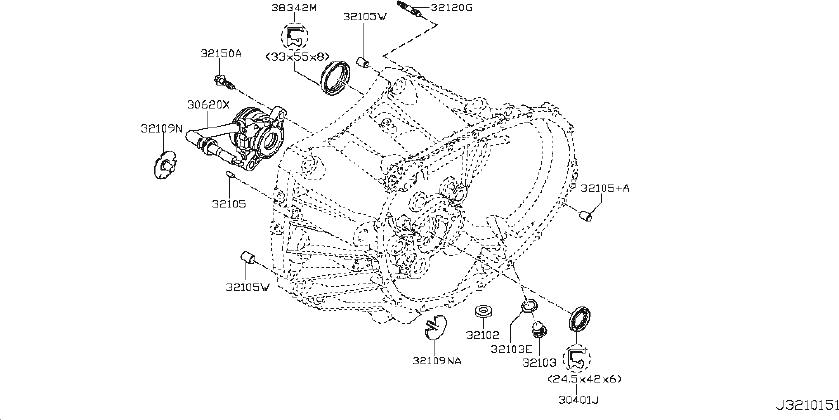 Nissan Versa Manual Transmission Input Shaft Seal. CLUTCH