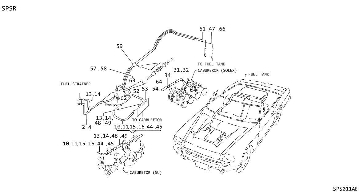 Nissan Stanza Clamp Hose, Carburetor TO I. ORD FRM SRS