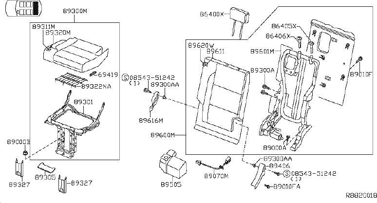 Nissan Armada Seat Frame Trim Panel. ROW, POWER, MANUAL