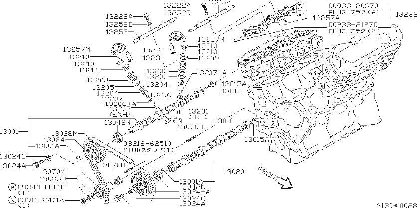 Nissan Quest Engine Timing Belt Tensioner Pulley. VALVE