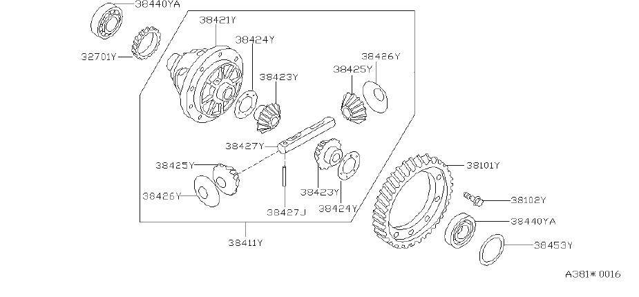 Nissan Quest Automatic Transmission Differential Bearing