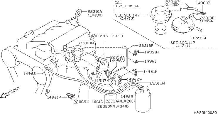 Nissan Pathfinder Vapor Canister Purge Solenoid. TCS