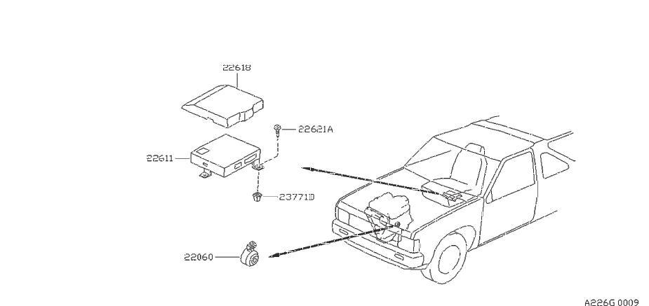 Nissan Pathfinder Ignition Knock (Detonation) Sensor