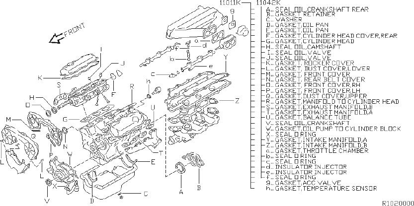 Nissan Xterra Engine Cylinder Head Gasket Set. KIT, VALVE