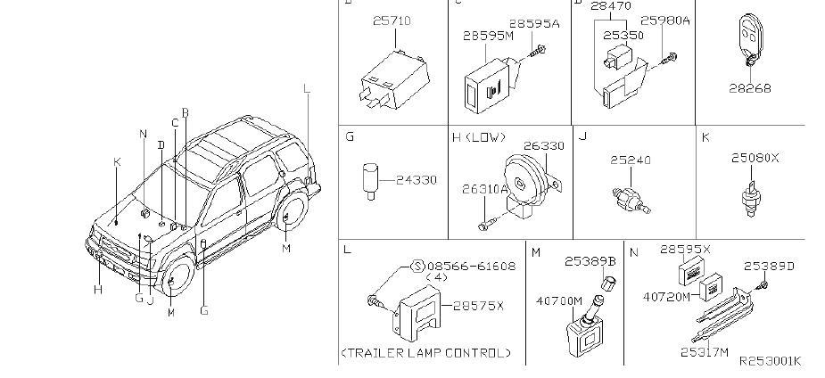 Nissan Xterra Engine Coolant Temperature Sender. OTHERS