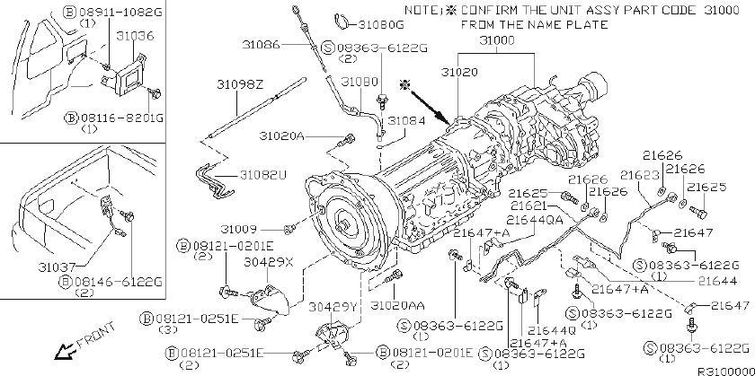Nissan Xterra Automatic Transmission Control Module. MODEL