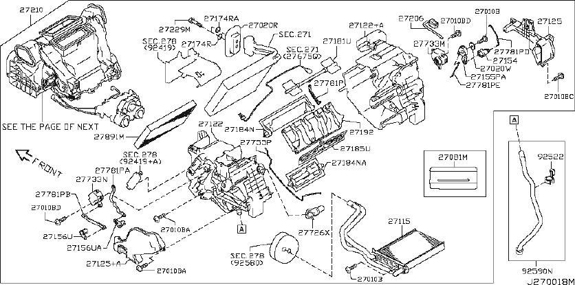 Nissan Cube Hvac Blower Motor Resistor. HEATER, UNIT