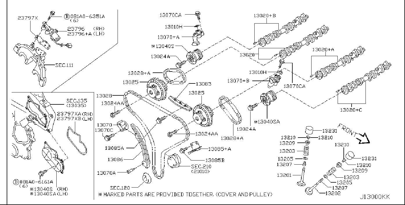 Nissan 350Z Engine Variable Valve Timing (Vvt) Solenoid