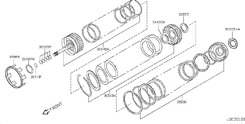 Nissan 370Z Automatic Transmission Input Shaft Seal. NOK