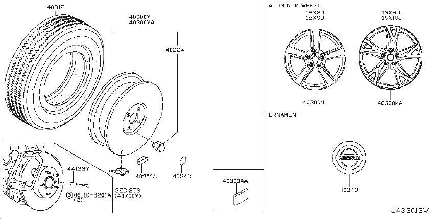 Nissan 370Z Balance Weight Wheel. WHEELTPMS, ADHESIVE, IPL