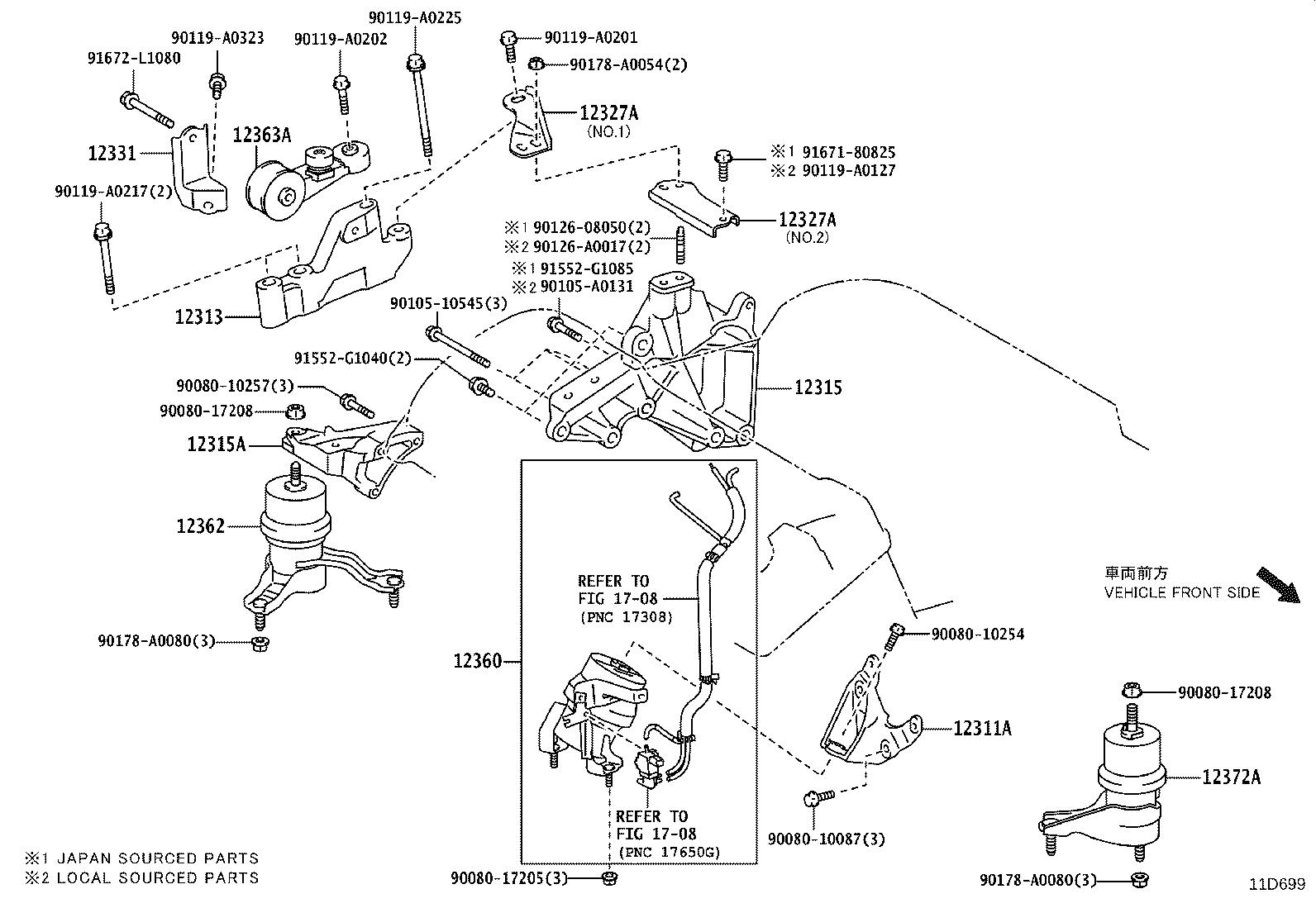 Lexus Es 350 Insulator Engine Mounting Right For