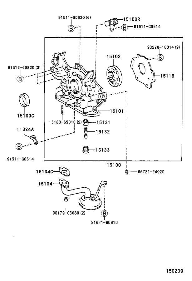 Lexus RX 300 Body sub-assembly, oil pump. Engine