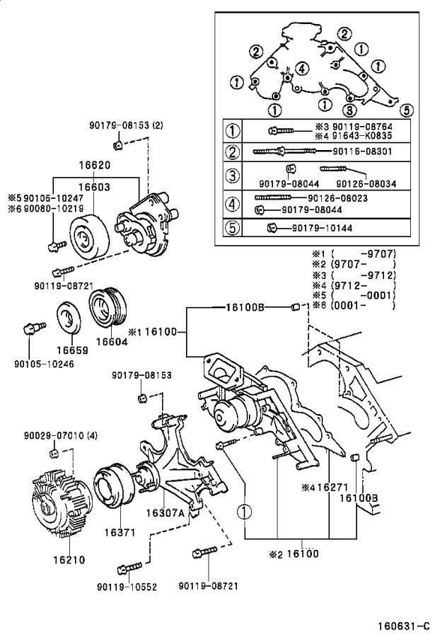 Lexus LS 400 Engine Water Pump Gasket. Gasket for Water