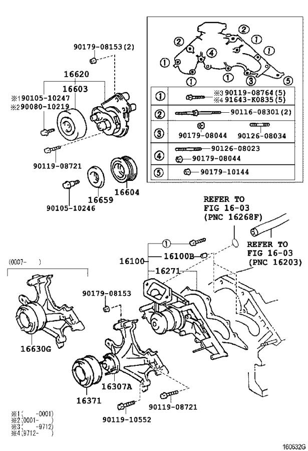 Lexus GS 300 Pump assembly, water, without coupling