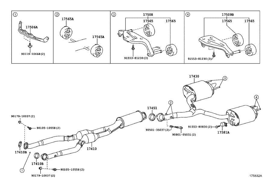 Lexus IS F Gasket. Exhaust pipe; exhaust pipe, center